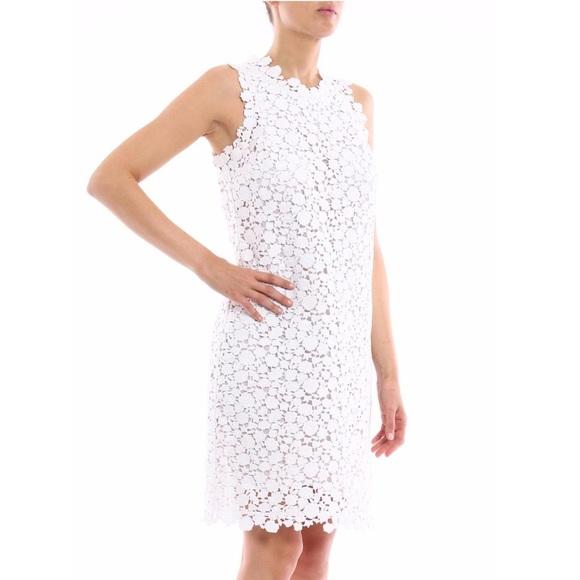 70c75026ebf Michael Kors White Crochet Floral Lace Dress. M 5aae041036b9de064c48543d